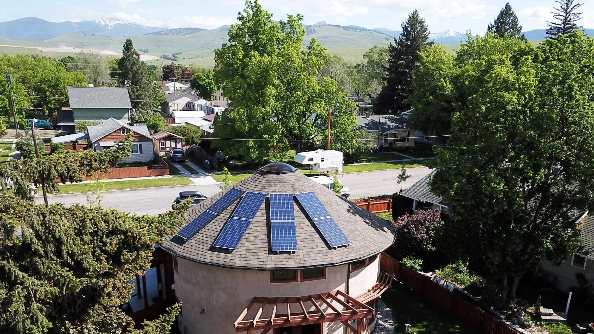Solar Panel on Yurt roof