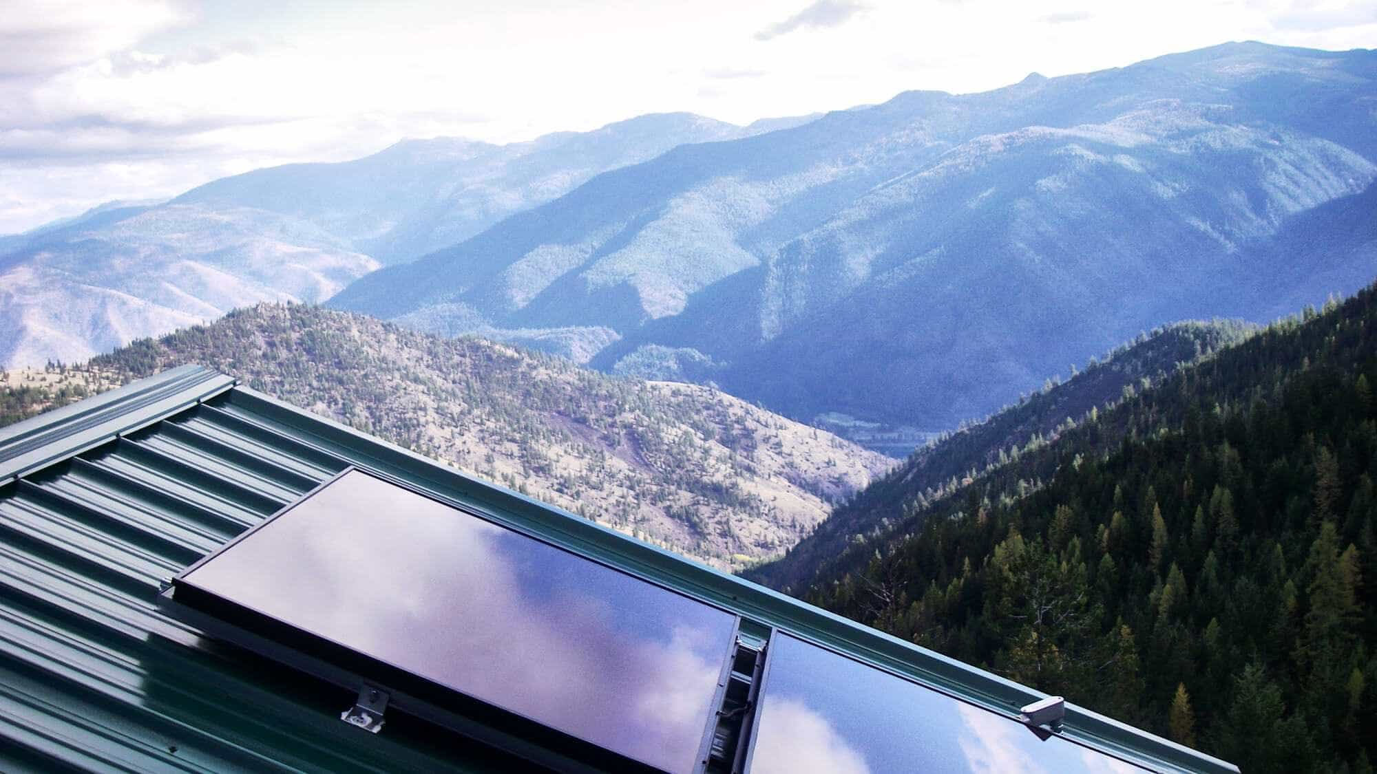 Solar Panel Installed on A Roof In Montana