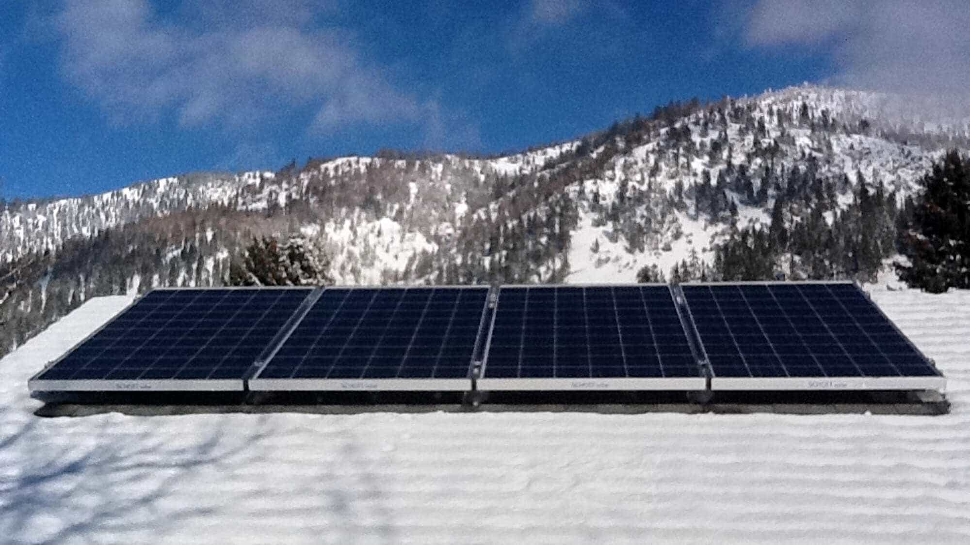 Solar in the snow