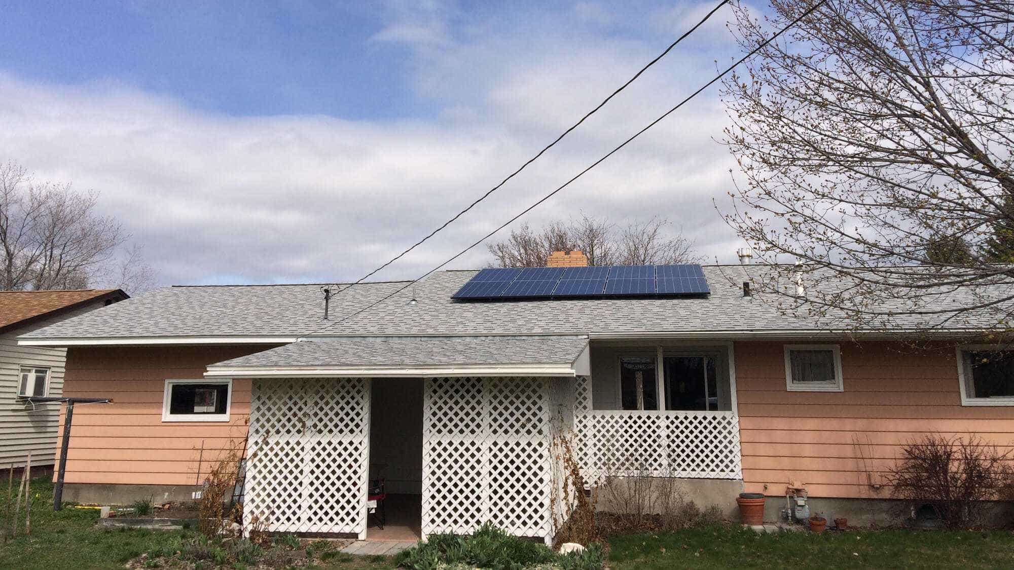 Solar Panels on roof in Montana