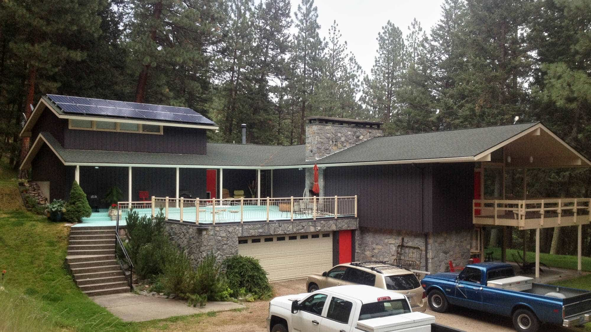 Solar Power House at Pattee Canyon